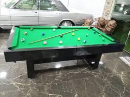 Mesa de Bilhar Sedução Preta Bl Tecido Verde Modelo APZ0124