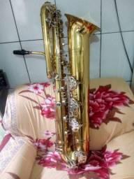 Sax baixo Galassine espetáculo de instrumento aceito troca