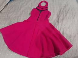 Vestido rosa choque