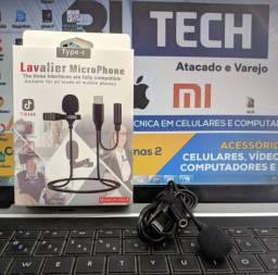 Microfone de lapela - Conexão Tipo C - Conexão P3