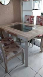 Mesa de jantar com 4 cadeiras comprar usado  Gravataí