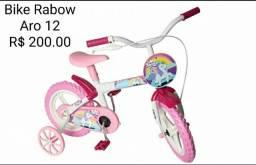 Bicicleta infantil Unicórnio aro 12