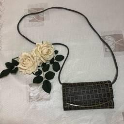 Carteira/bolsa em couro com alça