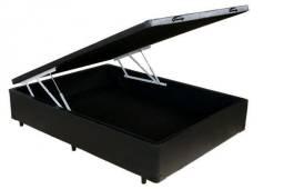 Cama Box Baú Casal 138X188X40 Preto - Promoção entrega grátis
