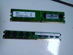 2 pent Memória RAM ddr2 2gb total de 4gb