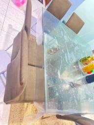 Título do anúncio: Vendo mesa de vidro 1000
