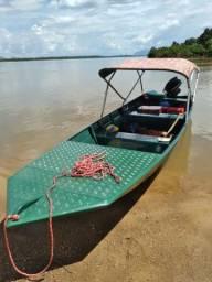 Título do anúncio: Canoa bico chato 6metros ESTÁVEL