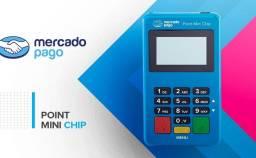 Título do anúncio: Maquina de Cartão (Aceite débito, crédito com point mini)
