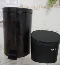 Lixeira preta 12 litros