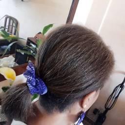 Prendedor de cabelo em crochê