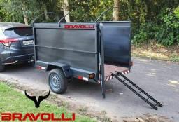Carretinha Reboque simples 400 kg a 1.000 kg BRAVOLLI
