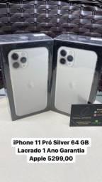 iPhone 11 Pró Silver 64 GB Lacrado 1 Ano Garantia Apple