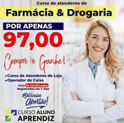 Título do anúncio: CURSO ATENDENTE DE FARMÁCIA EAD  - ATUALIZADO 2021