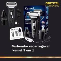 Título do anúncio: Aparador Barbeador Kemei 3 In1 Km 6558