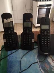Título do anúncio: Três telefones sem fio