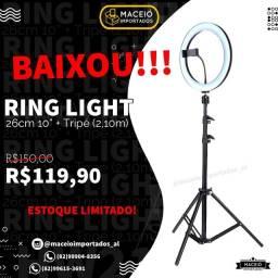 Título do anúncio: Ring light 10 Polegadas (26cm) + TRIPÉ 2,10m