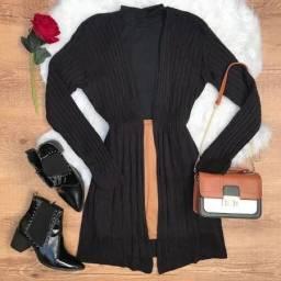 Casaco feminino Cardigan tricot