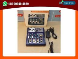 Título do anúncio: Mesa de Som Digital 4 Canais LE-710 Ketchup