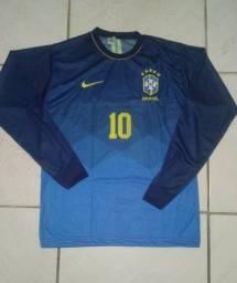 Título do anúncio: Camisas Manga Longa Brasil P e M