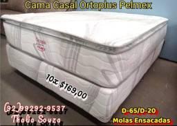 Título do anúncio: Conj. Casal Ortoplus de Molas Ensacadas/D-65,D-20/Pillow top..+ frete grátis