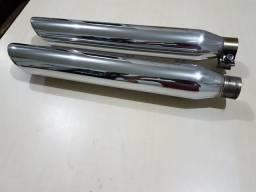 Ponteira Customer Harley Davidson - softail Corte Lateral Cromada