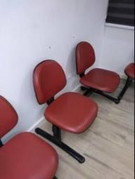 Vendo longarinas, cadeiras de espera