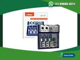 BMesa de Som Digital 4 Canais LE-710 Lelong