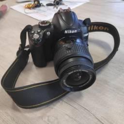 Câmera Nikon D5000 top