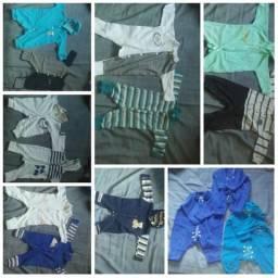 Lote de roupa de menino de de 0 a 6 meses