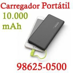 (Entregamos) Carregador Portátil Externo Pineng 10000mah 3 Cargas (Loja Física)