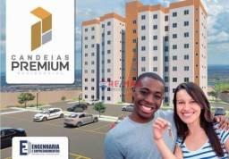 Apartamento com 2 dormitórios à venda, 48 m² por r$ 127.000 - sol nascente - vitória da co