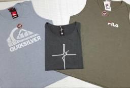 3 camisetas regatas masculinas G