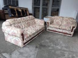 Jogo de sofá florido - Entrego!