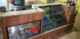 Balcão refrigerado, balcão caixa