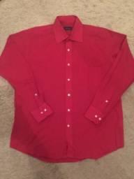 Camisa Social Rainforest Tamanho M (Número 15) Cor Vermelha Ótimo Estado Impecável Barbada