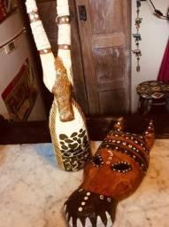 Máscara e escultura de Papel Machê