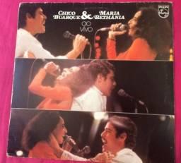 Vinil/LP Chico Buarque e Maria Bethânia ao vivo