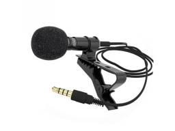 Microfone de Lapela Com Clip-On de 3.5mm Para Celular de Alta Qualidad