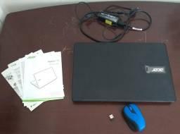 Notebook Acer F5-573-521B + Mouse Wireless Multilaser MO215 (Ler descrição)