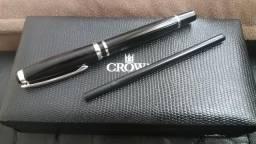 Caneta Crown Versalles Preta YW19032S c/refil