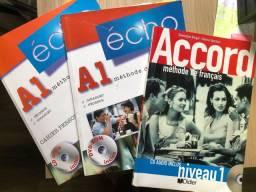 Kit livros didáticos francês A1 - Écho e Accord nível 1