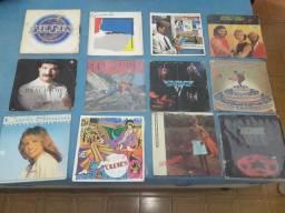 Lote com 12 discos de Rock