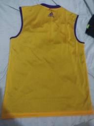 Camisa, regata basquete lakers dupla face