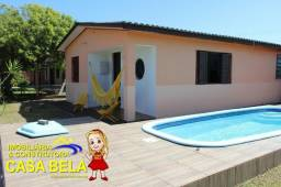 Casa á venda na Praia com piscina, forro de laje de concreto ! Casa Bela