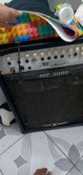 Caixa de som amplificada bem potente mp3000