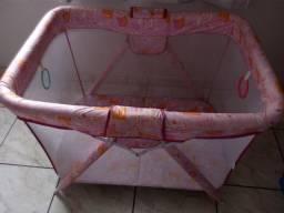 Cercadinho para bebê dobrável com mosquiteiro