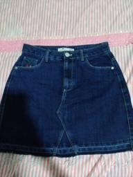Saia jeans, tamanho 40 (semi nova)