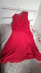 Vestido vermelho GG/46 ** aceito troca