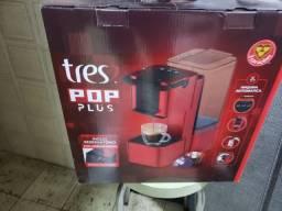 Máquina de café três pop plus 220v nova vermelha