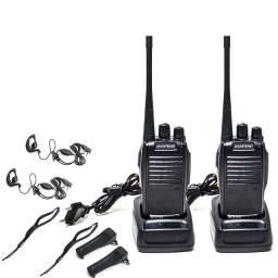 Rádio Comunicador Até 5 km Com Fone Walkie-Talkie